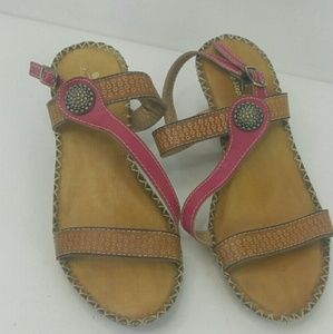 Spring Step Women's Leather Sandal Size 8